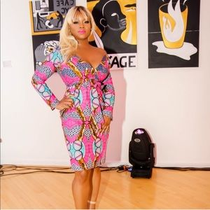 Dresses & Skirts - Pink Grass Fields African Printed Dress